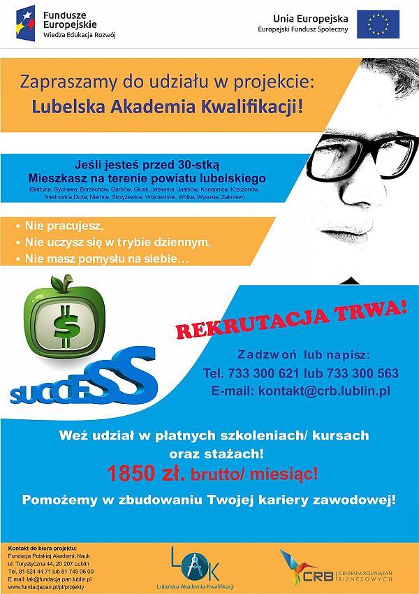 Plakat Lubelska Akademia Kwalifikacji