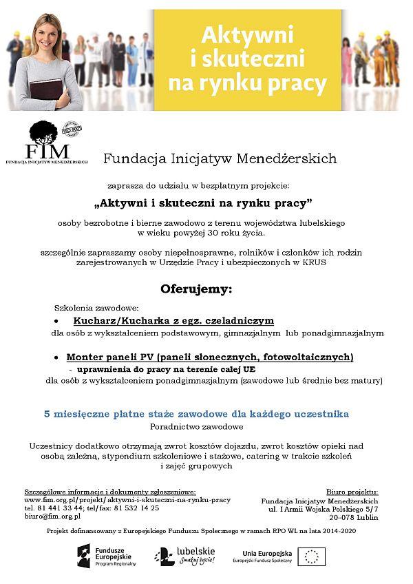 plakat informacyjny_Aktywni i skuteczni IX 2017-001