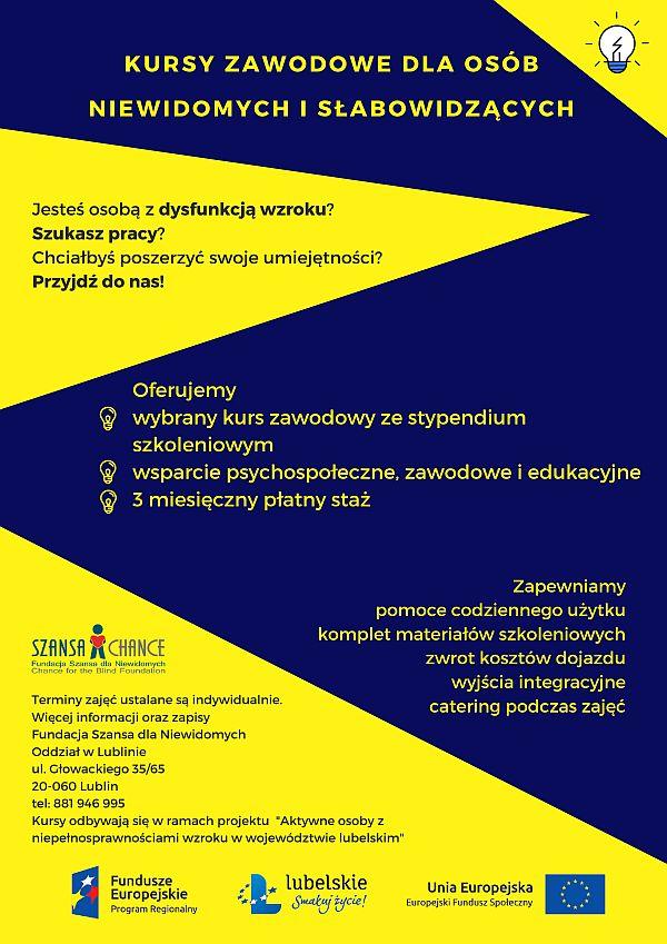 Kursy zawodowe RPO